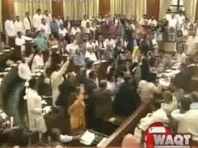 Hot Talks in Sindh Assembly Over Local Bodies Act 21 February 2013