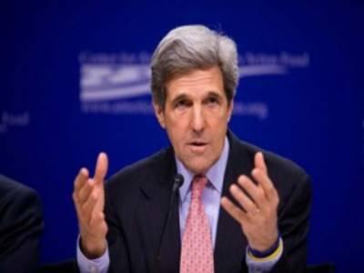 امریکی وزیرخارجہ جان کیری کی یورپ اور مشرق وسطیٰ کے دورے کے آخری مرحلےمیں قطر کے وزیراعظم سے ملاقات ،شام کی صورت حال سمیت اہم معاملات پر تبادلہ خیال کیا ہے