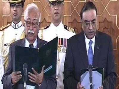 میر ہزار خان کھوسو نے چھٹے نگران وزیراعظم کی حیثیت سے حلف اٹھالیا.