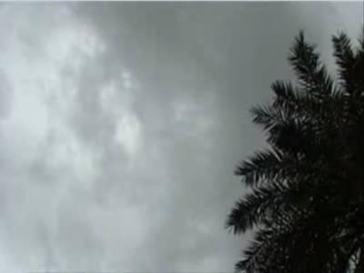 آئندہ چوبیس گھنٹوں کے دوران میں بارش کا امکان