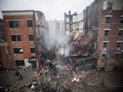 نیویارک میں گیس کے دھماکے میں دو عمارتوں کے منہدم ہونے کےنتیجے میں 12 افراد زخمی