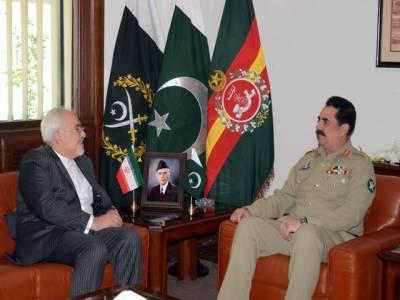 ایرانی وزیر خارجہ کی چیف آف آرمی سٹاف سے جنرل ہیڈکوارٹرز میں ملاقات
