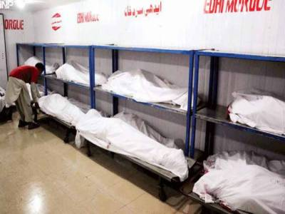 سانحہ صفورہ چورنگی میں جاں بحق ہونے والوں اسماعیلی برادری کے 46 افراد کو نماز جنازہ کی ادائیگی کےبعد سپردخاک کردیا گیا