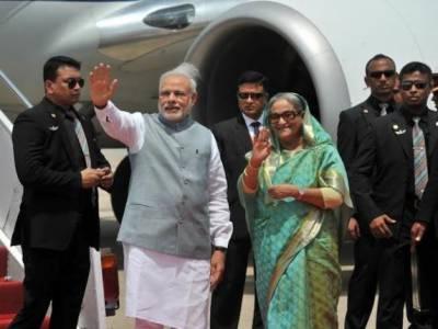 بھارتی وزیر اعظم نریندرمودی دو روزہ دورے پر ڈھاکہ پہنچ گئے