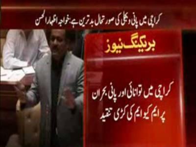 کراچی میں توانائی اور پانی بحران پر ایم کیو ایم کی کڑی تنقید