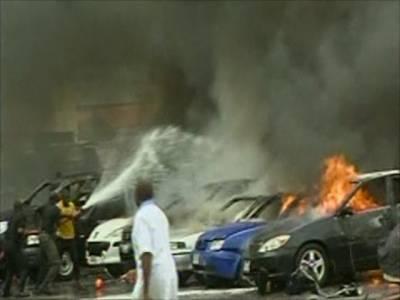 نائجیریا کی ایک مارکیٹ میں ہونے والے 2دھماکوں کے نتیجے میں عید کی خریداری کرنے والوں سمیت49 افراد ہلاک اور درجنوں زخمی ہوگئے
