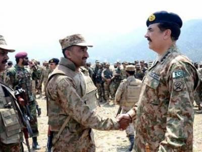 آرمی چیف جنرل راحیل شریف جوانوں کے ساتھ عید منانے وزیرستان پہنچ گئے