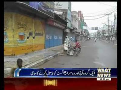 Traders Shutter Down Strike in karachi