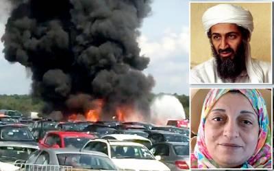 جنوبی لندن میں ایک چھوٹا مسافر طیارہ گر کر تباہ ہو گیا اس میں اسامہ بن لادن کی سوتیلی ماں اور دو بہنیں ہلاک