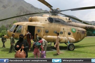 مانسہرہ ہیلی کاپٹرحادثے کا ریسکیو آپریشن مکمل کرلیاگیا