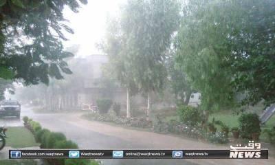 ملک کے بالائی علاقوں سمیت مختلف مقامات پر بارشوں کا نیا سلسلہ داخل ہوچکا ہے