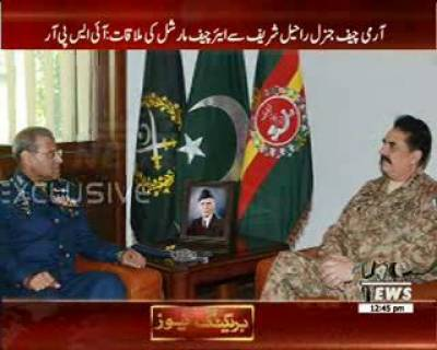 Chief Of Pak Air Force Air Chief Marshal Sohail Aman, Chief Of Air Staff Visited GHQ