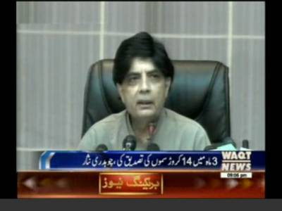 All Terrorism Networks Finished: Ch Nisar