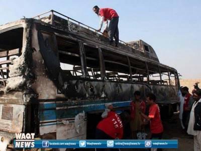 کلر کہار کے قریب مسافر بس اور ٹرالر میں تصادم ہوا جس میں6افراد جاں بحق اور23زخمی