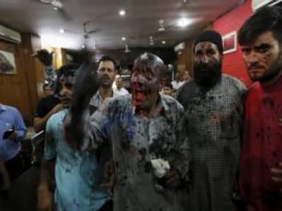 شیوسینا نےمقبوضہ کشمیر میں مسلمان رکن اسمبلی انجنئیررشید کے چہرے پر سیاہی پھینک دی
