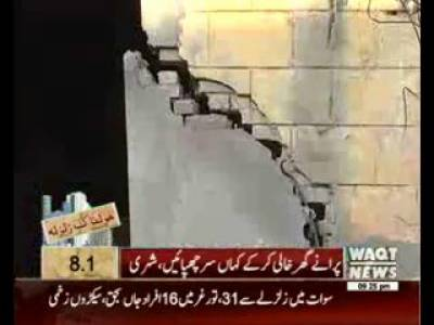 Aged and Poor Condition of Buildings in Lahore