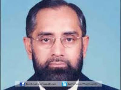چیف جسٹس آف پاکستان انور ظیہر جمالی نے سینٹرل جیل کراچی میں انسداد دہشتگردی عدالتوں کی عمارت کا سنگ بنیاد رکھ دیا