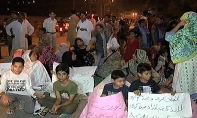 مون گارڈن کراچی کے مکینوں کا دھرنا رنگ لے آیا