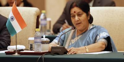 سشما سوراج راجیہ سبھا میں دورہ پاکستان پر بریفنگ دینے پہنچی تو اپوزیشن نے ہنگامہ کھڑا کردیا