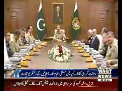 Rashid Mehmood Chairman Joint Chiefs Of Staff Committee Meeting