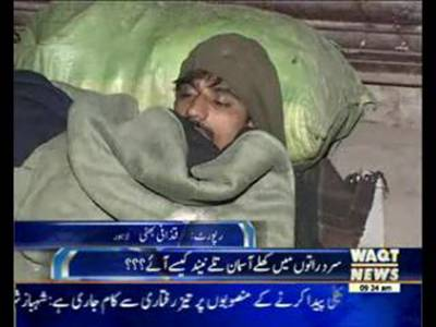 Issues of poor people came from out of City in Winter