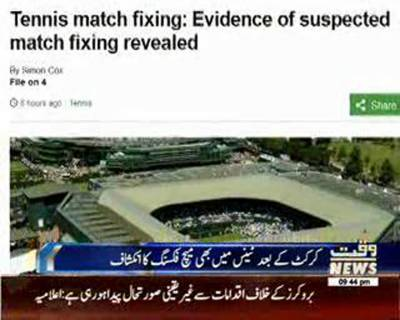 Tennis match fixing: Evidence of suspected match-fixing revealed - BBC Sport