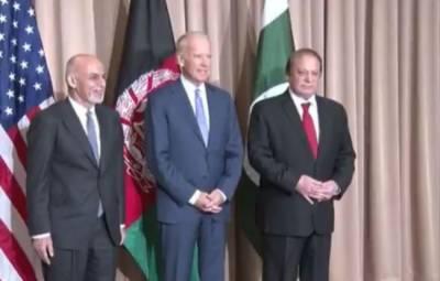 ڈیووس میں امریکی نائب صدر جو بائیڈن اور افغان صدر اشرف غنی کی وزیراعظم نوازشریف سے ملاقات , سانحہ چارسدہ پر گہرے افسوس کا اظہار کیا, انتہا پسندی کے خلاف پاکستانی قوم کے کردار کو سراہا