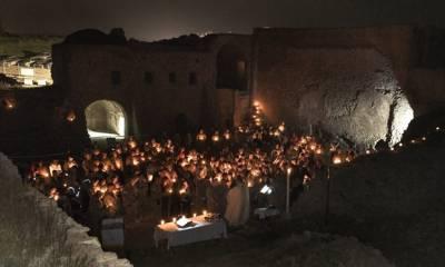 عراق میں داعش کے جنگجوؤں نے چودہ صدی پرانی ایک تاریخی عیسائی عبادتگاہ کو مسمار کردیا