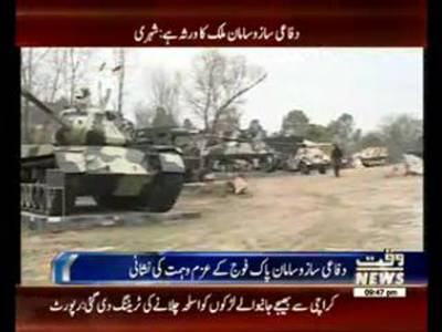 Military Arms and Equipment Display Exhibition at Ayub Park ISB
