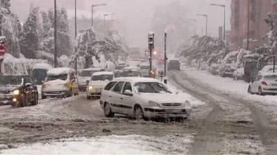اسپین کے شمالی علاقوں میں شدید برف باری, حکام نے 30 صوبوں میں طوفان کا الرٹ جاری کردیا