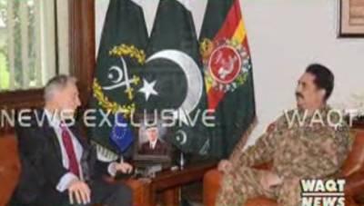 جنرل راحیل شریف سےیورپی یونین کےخصوصی نمایندےبرائےافغانستان نےملاقات کی