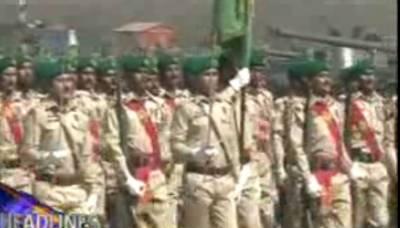23مارچ کےحوالےسےاسلام آبادمیں پریڈکیلئےپاک فوج کی فل ڈریس ریہرسل جاری ہے