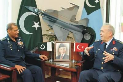 پاک فضائیہ کے سربراہ ایئر چیف مارشل سہیل امان کی کمانڈر ترکش فضائیہ سے ملاقات , پیشہ وارانہ دلچسپی کے امور پر تبادلہ خیال