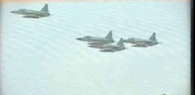کراچی میں پاک فضائیہ کےF-7طیاروں کی JF-17سےتبدیلی کی پروقارتقریب کاانعقادکیاگیا