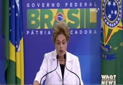 برازیل کی صدرڈلماروزیف نےاپنےخلاف ہونےوالی 'بغاوت' کی مذمت کی کہ'نائب صدرمائیکل ٹیمران کےخلاف سازش کرنےوالوں میں سے1ہیں