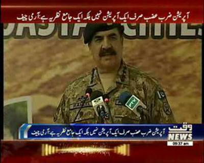 General Raheel sharif views about C Pack Project and Operation zarb e azb