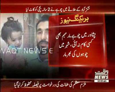 Rat bitting little girl in Peshawar