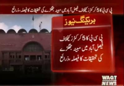 پی سی بی کا 5 کرکٹرز کیخلاف فیصل آباد میں مبینہ جھگڑے کی تحقیقات کا فیصلہ ،ذرائع