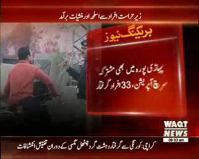 Search Operation in Hayatabad Peshawar 40 Suspected arrested
