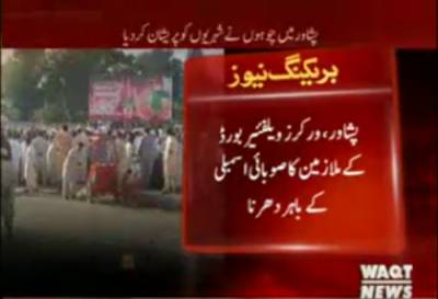 Peshawar workers welfare protest