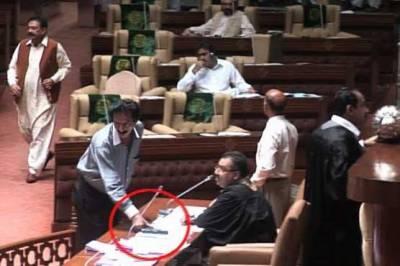 Sindh assemblyکی سیکیورٹی کاپول کھل گیا،ایک شخص ساتھی سمیت اسلحہ لےکراجلاس میں پہنچ گی