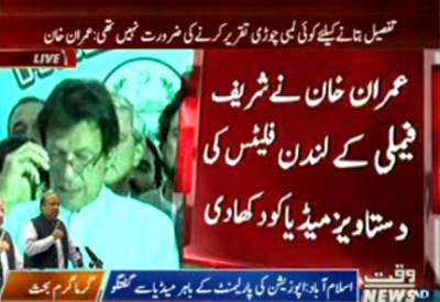 Imran Khan Media Talk With Opposition