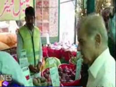 وزیراعلیٰ پنجاب شہبازشریف نےلاہورمیں بغیرپروٹوکول رمضان بازار کااچانک دورہ کیا