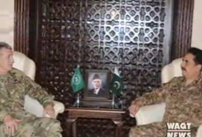 آرمی چیف جنرل راحیل شریف سے سے امریکی کمانڈر جنرل جان نکلسن نے ملاقات کی