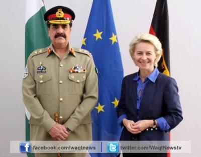 آرمی چیف جنرل راحیل شریف کی جرمن وزیر دفاع اور جرمن ہم منصب سے ملاقات۔