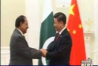 پاکستان اور چین میں علاقائی امن و استحکام ، ترقی اورخوشحالی کیلئے مل کر کام کرنے پر اتفاق ہو گیا