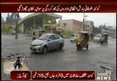 کوئٹہ میں گزشتہ روز ہونے والی طوفانی بارش انتظامی اداروں کی کارکردگی پر سوالیہ نشان بن گئی