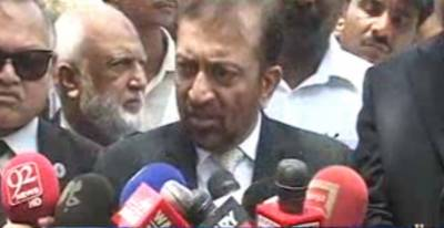 چیف جسٹس سندھ ہائیکورٹ سجاد علی شاہ سے ایم کیو ایم کے رہنما فاروق ستار اور سینیٹر فروغ نسیم نے ملاقات کی