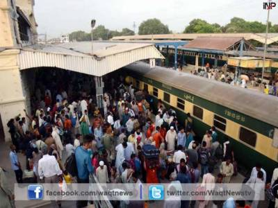 عید الفطر منانے کیلئے پردیسیوں کی آبائی علاقوں کو روانگی کا سلسلہ جاری.ریلوے اسٹیشنز اور بس اڈوں پر رش۔