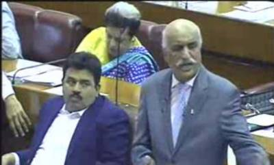 قومی اسمبلی میں اپوزیشن لیڈر خورشید شاہ نے کشمیرمیں بھارتی فوج کی جانب سے کشمیریوں کو شہید کرنے کی پرزور الفاظ میں مذمت کی ہے